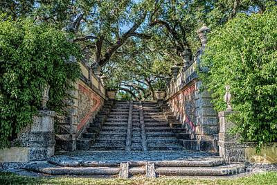 Photograph - Vizcaya Stairs by Ed Taylor