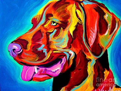 Dawgart Painting - Vizsla - Dog Days by Alicia VanNoy Call