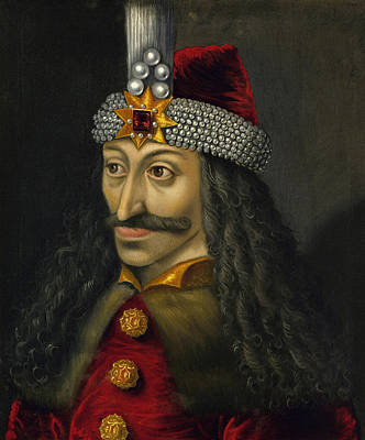 Romania Painting - Vlad The Impaler Portrait  by War Is Hell Store