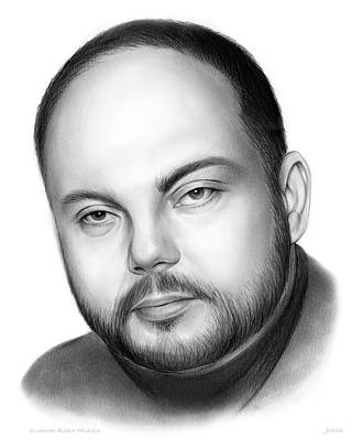 Politicians Drawings - Vladimir Kara-Murza  by Greg Joens