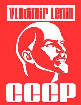 Lenin Digital Art - Vladimir Lenin Cccp by Otis Porritt