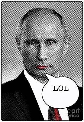 Putin Painting - Vladimir Putin - Pop Art by Mary Bassett