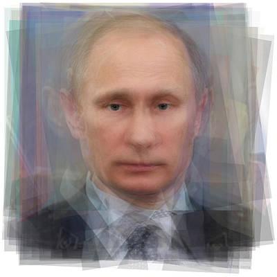 Vladimir Putin Portrait Art Print by Steve Socha