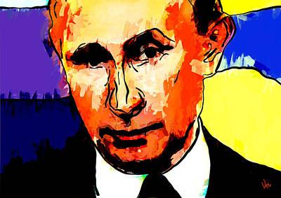 President Iphone Cases Painting - Vladimir Putin by Vya Artist