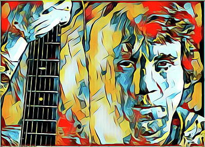 Digital Art - Vladimir Vysotsky by S Art