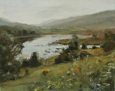 Heather Burton Painting - Vlaie Pond by Heather Burton
