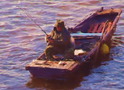 Vltava Fishing Art Print by Shawn Wallwork
