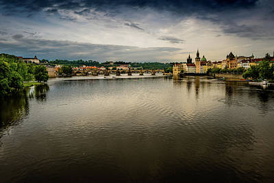 Photograph - Vltava River by M G Whittingham