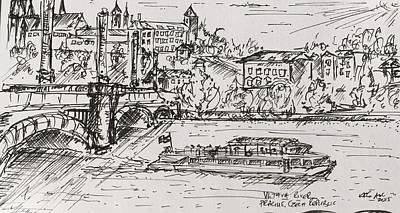 Vltava River, Prague Original by Kelly Goss
