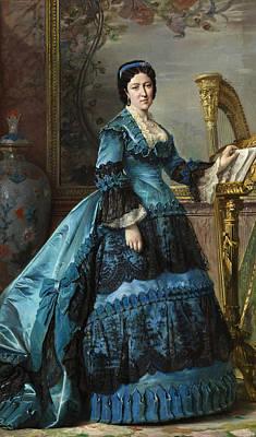 Dolores Painting - Maria De Los Dolores Collado Y Echague. Duchess Of Bailen by Vicente Palmaroli