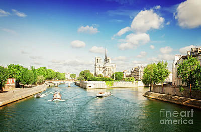 Photograph - Notre Dame And River Seine by Anastasy Yarmolovich