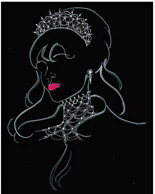Vodka Princess Art Print by Yvonne Ayoub