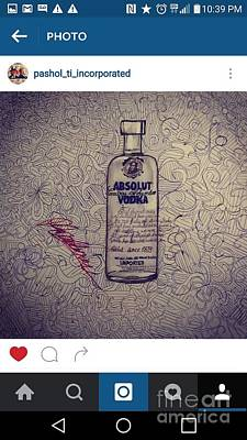Drawing - Vodka  by Rooster Art