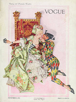 Vogue Cover Featuring An Eighteenth Century Art Print