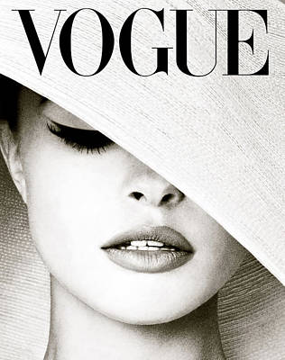 Upton Photograph - Vogue, White Hat Cover by Thomas Pollart
