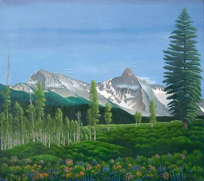West Fork Painting - Voice Of West Fork Dallas Creek by Philipp Merillat