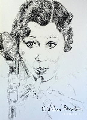 Dubbing Drawing - Voice Over Artist, Mae by N Willson-Strader