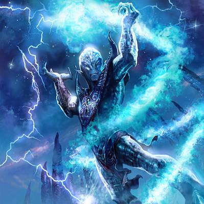 Sorcerer Digital Art - Voidman Sorcerer by Ryan Barger