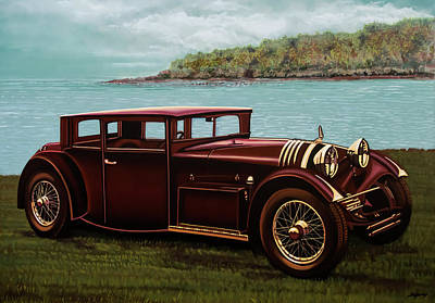 Painting - Voisin C20 Mylord Demi-berline 1931 Painting by Paul Meijering
