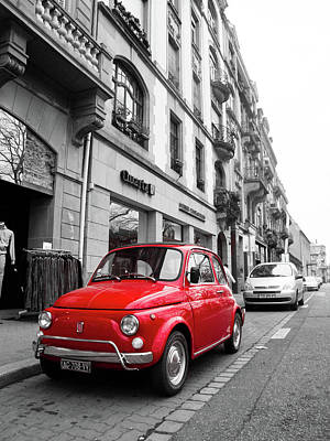 Voiture Rouge Art Print