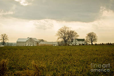 Amish Photograph - Volant Country Barn by Pittsburgh Photo Company