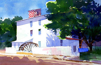 Grist Mill Painting - Volant Mills by Lee Klingenberg