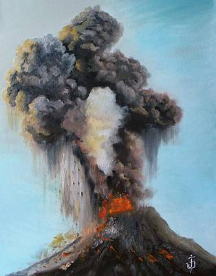 Painting - Volcan De Fuego by Jose Velasquez