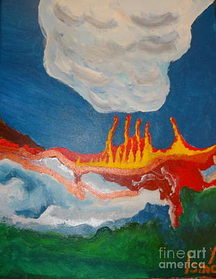 Painting - Volcanic Action by Rod Ismay