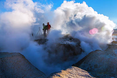 Photograph - Volcanic Activity, Altiplano, Bolivia by Venetia Featherstone-Witty