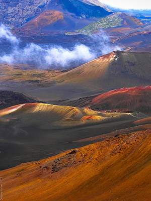 Art Print featuring the photograph Volcanic Crater In Maui by Debbie Karnes