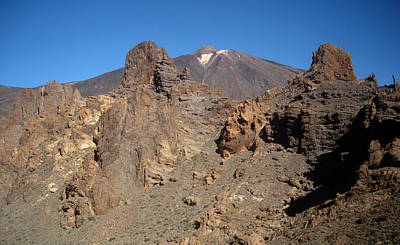 Photograph - Volcanic Landscape And El Teide - Chinyero 1 by Elena Schaelike