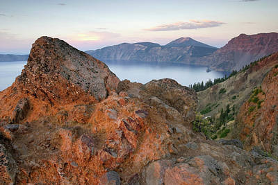 Photograph - Volcanic Rock And Mount Scott, Crater Lake Np, Oregon by Robert Mutch