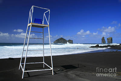 Azoren Photograph - Volcanic Sand Beach by Gaspar Avila