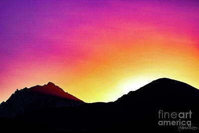 Volcanic Sunrise Art Print