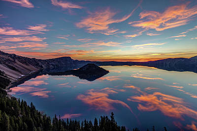 Photograph - Volcanic Sunrise At Crater Lake by Pierre Leclerc Photography