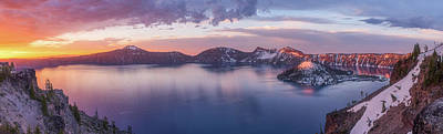 Crater Lake Wall Art - Photograph - Volcanic Sunrise by Darren White