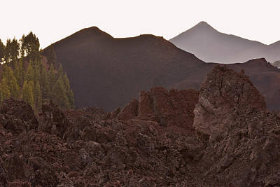 Photograph - Volcano Chinyero And Mount Teide Tenerife by Marek Stepan
