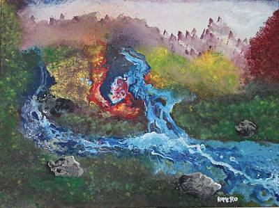 Volcano Delta Art Print by Antonio Romero