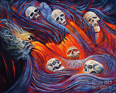Painting - Deluge Of Fire by Birgit Seeger-Brooks