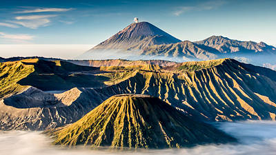Volcano Galore Art Print by Philipp Weindich