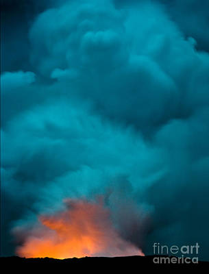 Photograph - Volcano Smoke And Fire by Patti Schulze