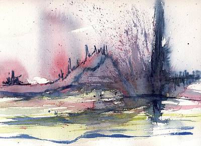 Volcano Print by Susan Mott