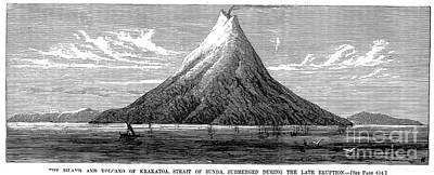Photograph - Volcanoes: Krakatoa, 1883 by Granger