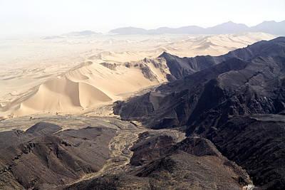 Sahara Photograph - Volcanoes Meets Spectacular Sand Dunes by Michael Fay