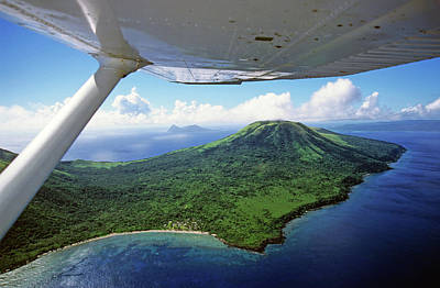 Volcanoes Seen From A Plane On The Island Of Efate Art Print by Sami Sarkis