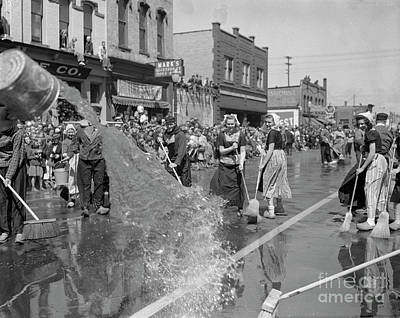 Holland Michigan Photograph - Volksparade Holland Michigan Street Cleaning 1946 by The Harrington Collection