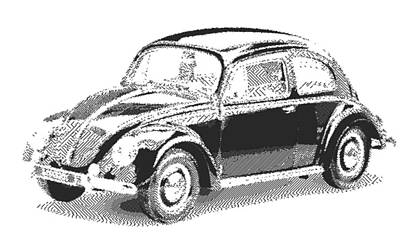 Drawing - Volkswagen 1949 - Parallel Hatching by Samuel Majcen