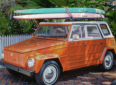 Robert Bellomy Royalty-Free and Rights-Managed Images - Volkswagen and Surfboards by Robert Bellomy