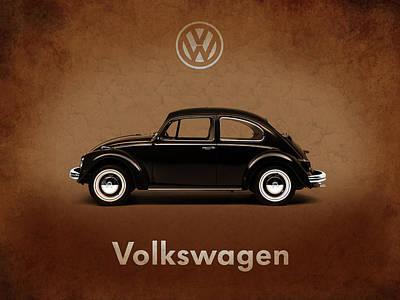 Vw Beetle Photograph - Volkswagen Beetle 1969 by Mark Rogan