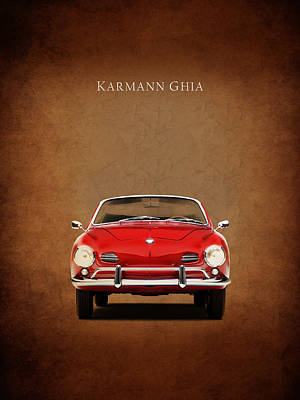 Volkswagen Photograph - Volkswagen Karmann Ghia by Mark Rogan